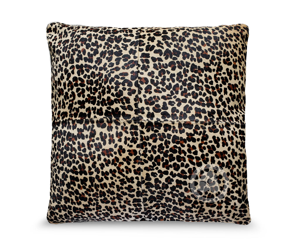 "Jaguar Cowhide Pillow Cover 31""x31"""
