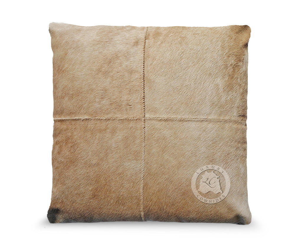 "Palomino Cowhide Pillow Cover 31""x31"""