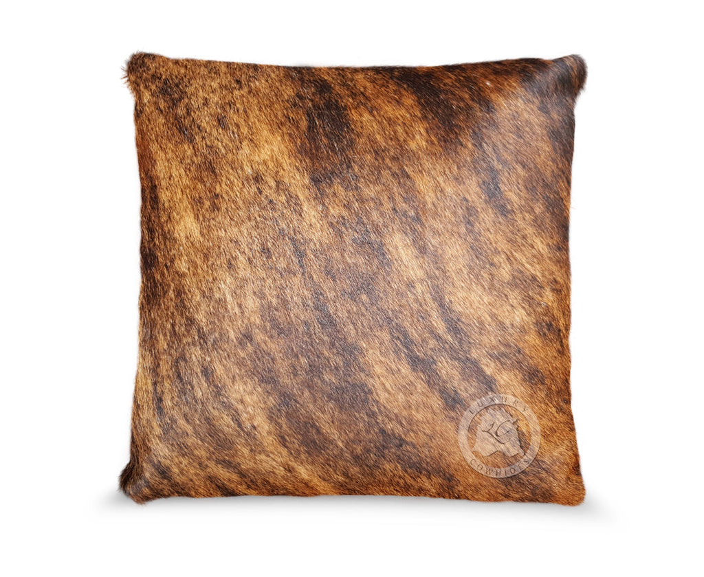 Brindle Tricolor Cowhide Pillow Cover