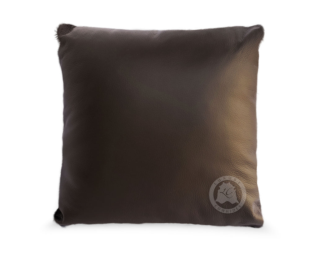 "Baby Zebra Brown Stripes on Light Beige Cowhide cover Pillow, 15"" x 15"