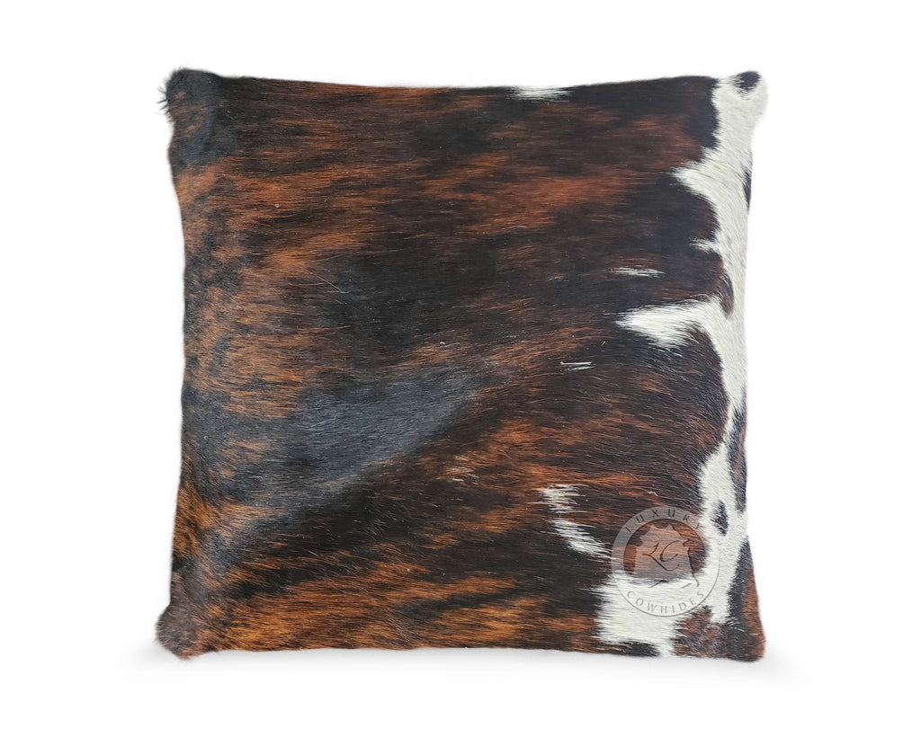Tricolor Cowhide Pillow Cover