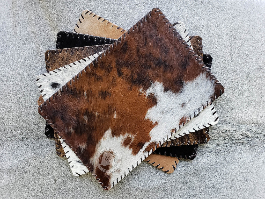 "Cowhide Placemat Plain 14x17"" - Set of 2,4 or 6 Units"