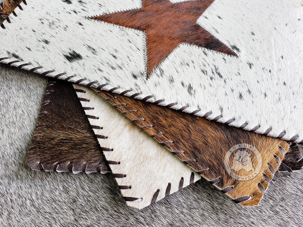 "Cowhide Placemat Start 14x17"" - Set of 2, 4 or 6 Units"
