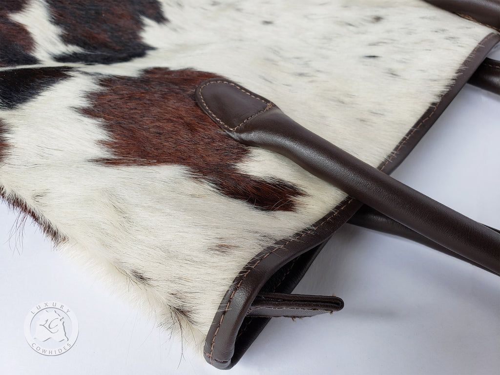 COWHIDE HAND BAG LEATHER, TRICOLOR