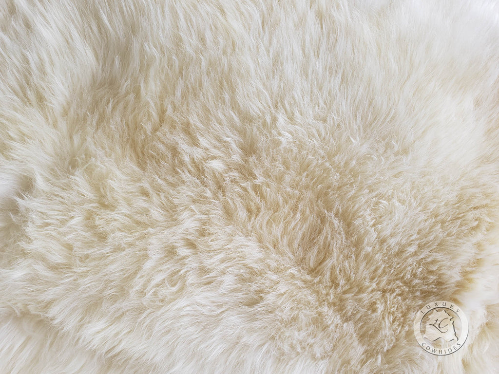 Genuine Sheepskin Natural White, Approx Size 3'x6'