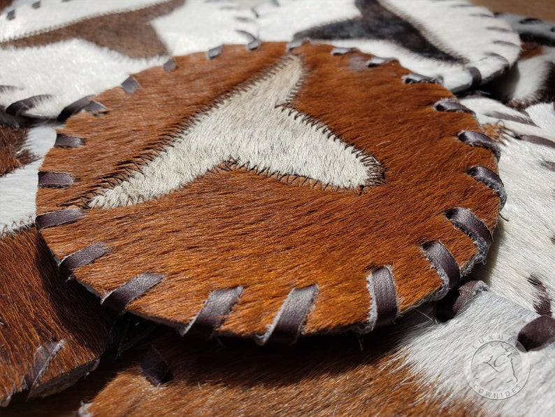 Cowhide Coaster -LONGHORN- Assorted Colors