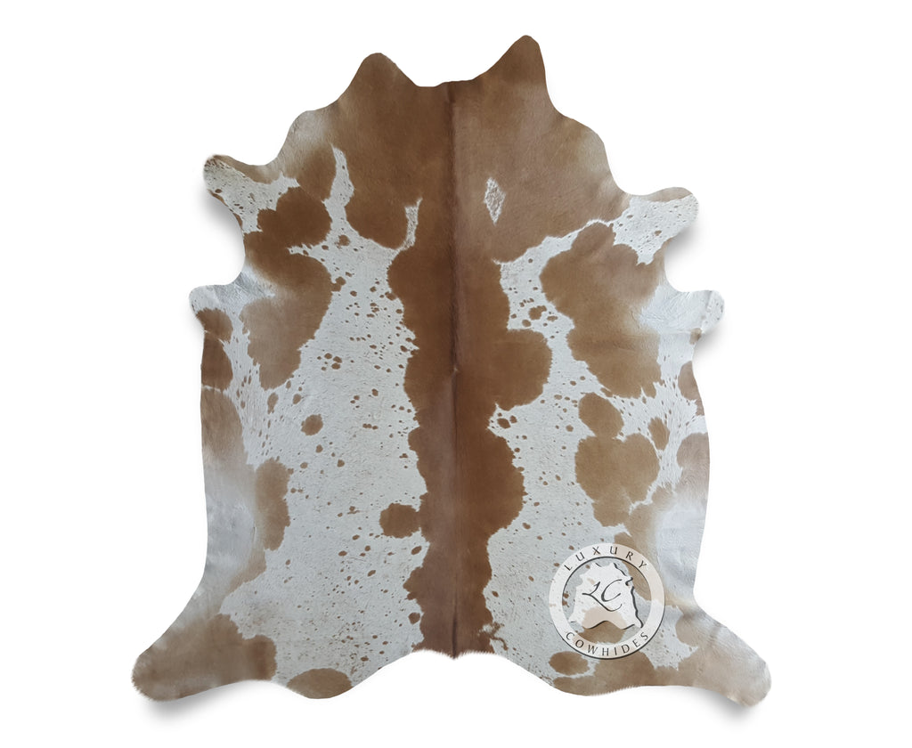 Beige and White Cowhide Rug - Luxury Cowhides