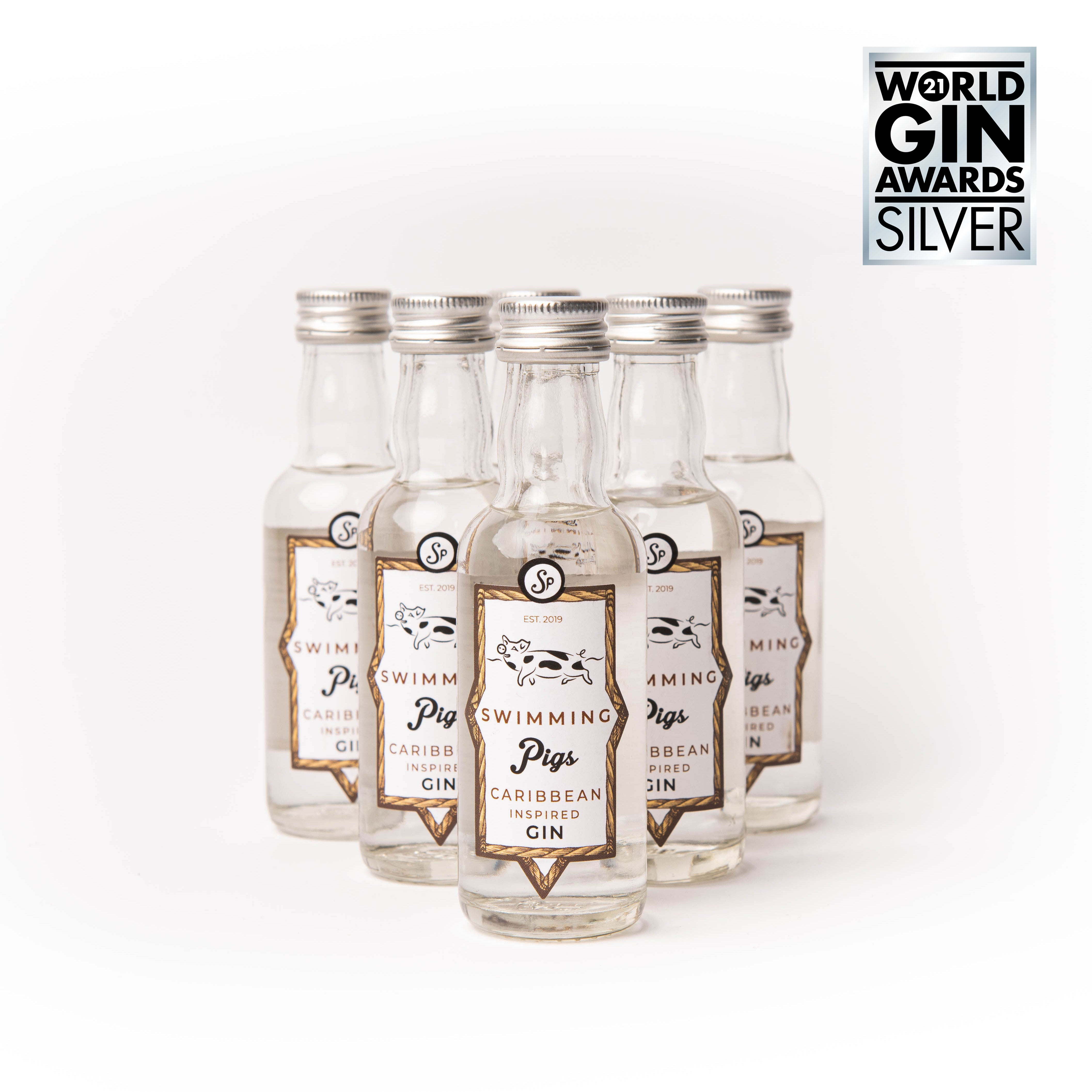 Swimming Pigs Caribbean Gin 5cl (x6)