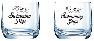 Swimming Pigs Glasses (Pair)