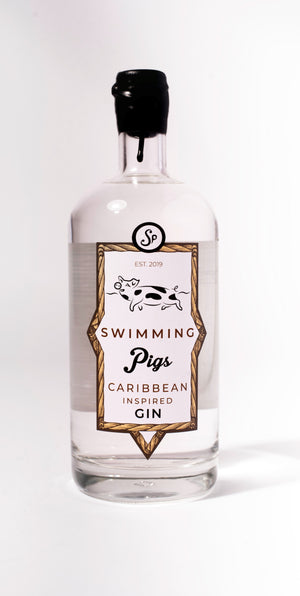 Swimming Pigs Caribbean Gin 70cl