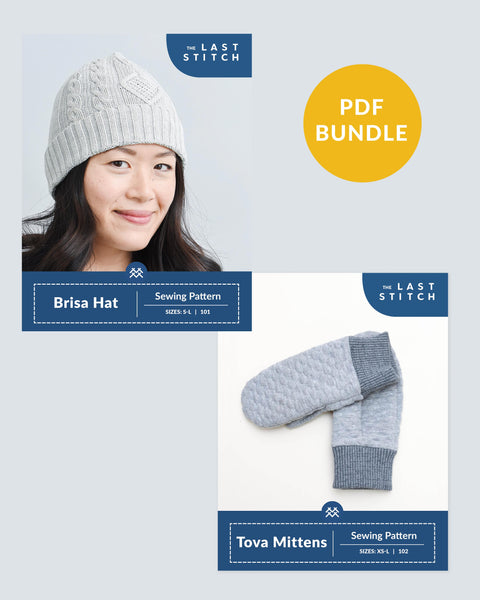 Brisa Beanie + Tova Mittens - PDF Sewing Patterns Bundle