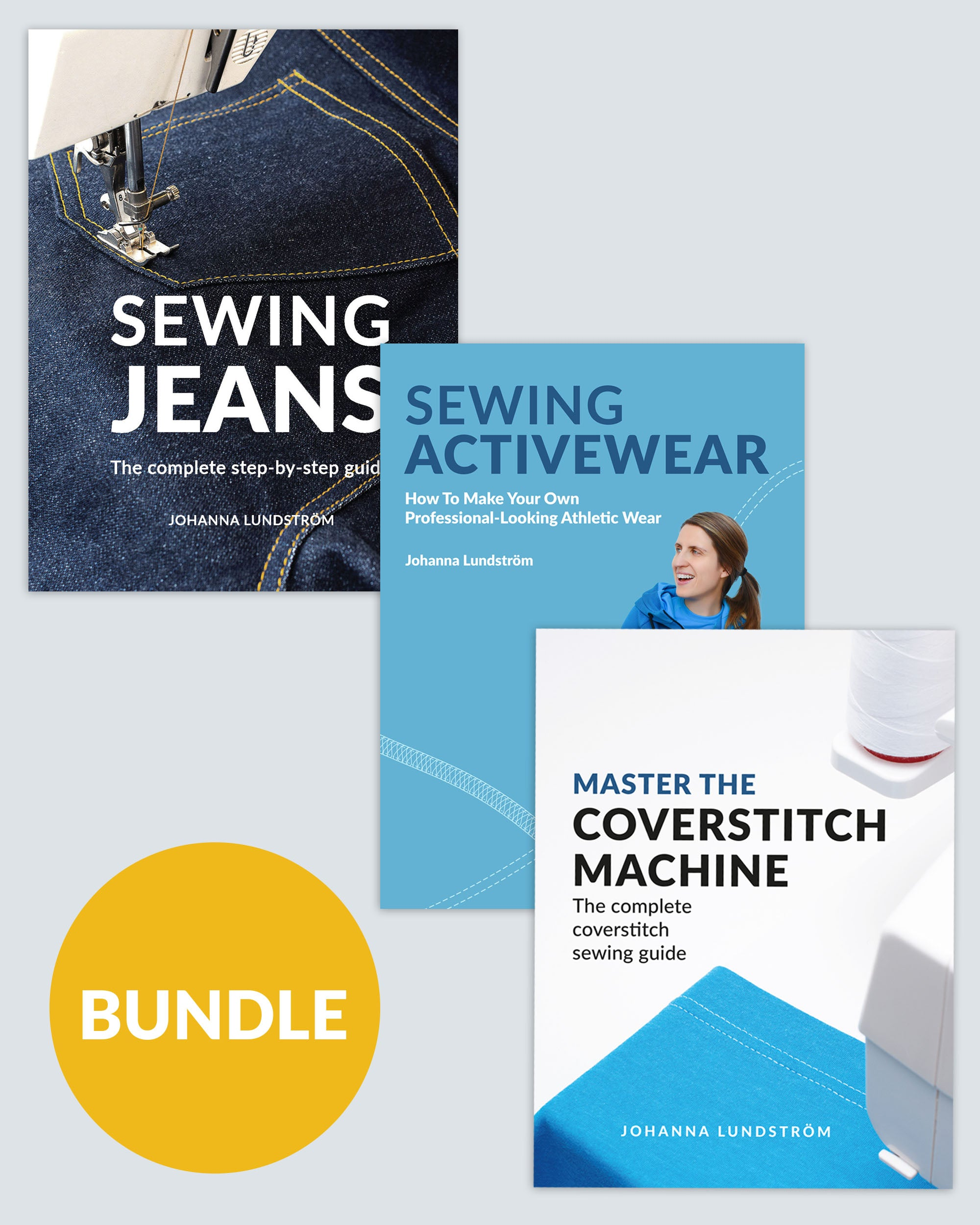 Master the Coverstitch Machine + Sewing Jeans + Sewing Activewear – Ebook Bundle (PDF)