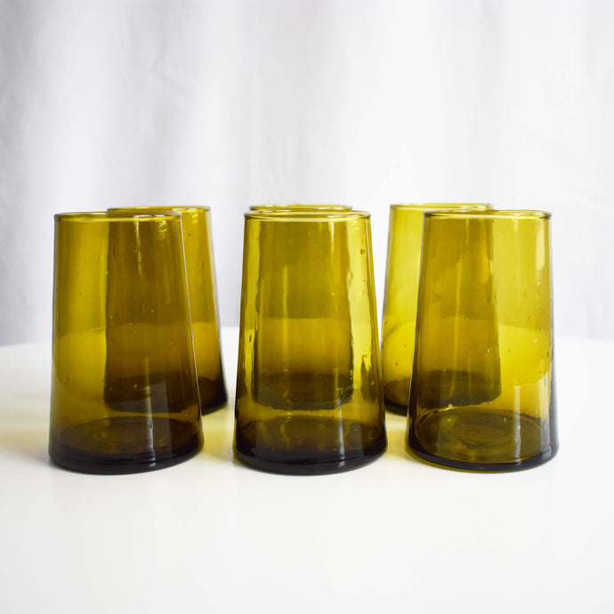 MOROCCAN GLASSWARE SET OF 6