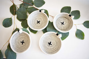 WOVEN COASTERS SET OF 4