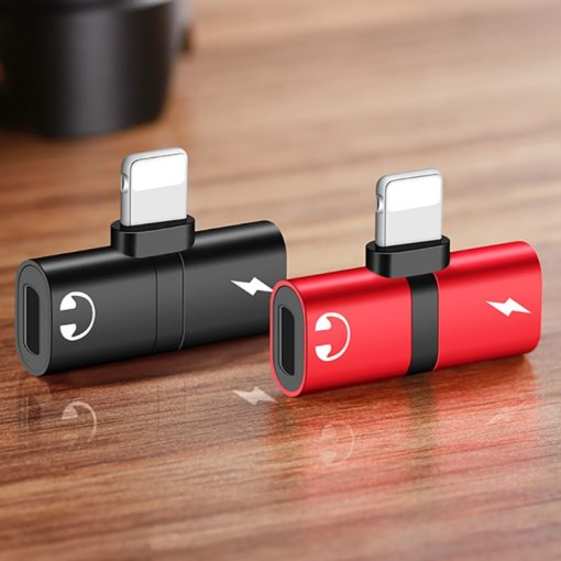 Dual Port Earphone Aux Adapter Case for IPhone