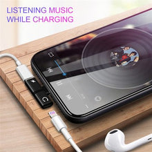 Load image into Gallery viewer, Dual Port Earphone Aux Adapter Case for IPhone