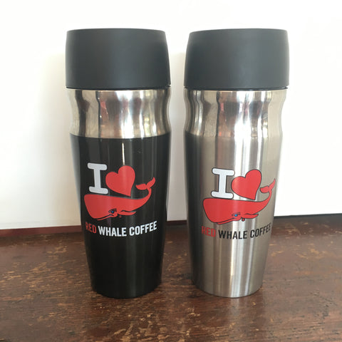 I LOVE Red Whale 16oz Stainless Insulated Travel Mug