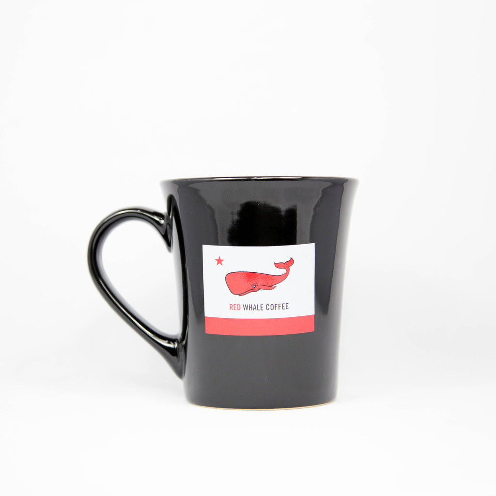Red Whale Coffee Flag Ceramic Mug 16oz
