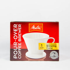Melitta # 4 PORCELAIN POUR OVER FILTER CONE