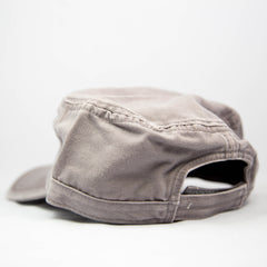Red Whale Military Style Hat- Charcoal Grey