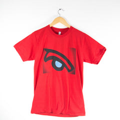 Red Whale Eye; American Apparel Shirt- Womens (Red)