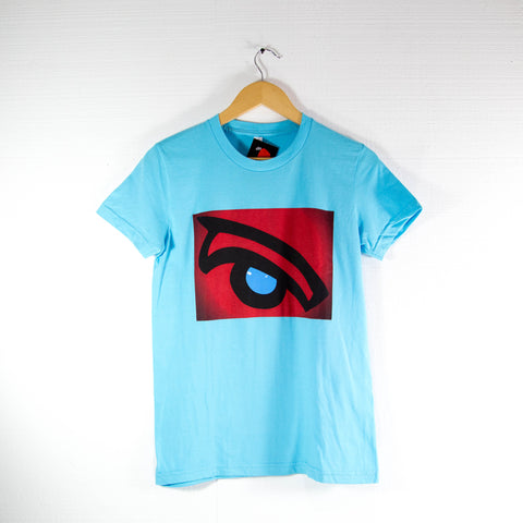 Red Whale Eye; American Apparel Shirt - Womens (Turquoise)