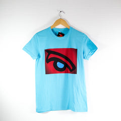 Red Whale Eye-American Apparel Shirt-Mens (Turquoise)