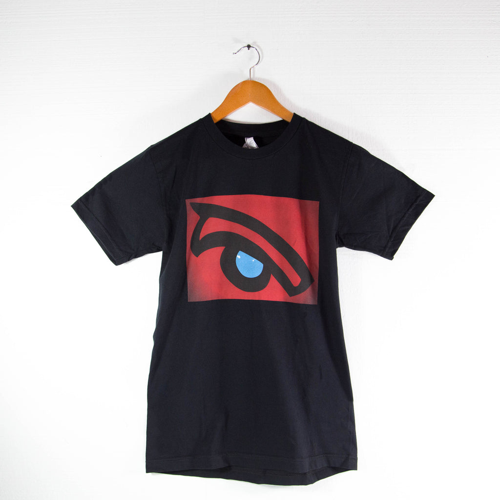 Red Whale Eye; American Apparel Shirt- Womens (Black)
