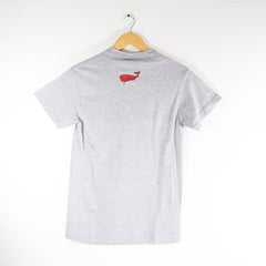Red Whale Coffee Flag-American Apparel Shirt- Mens (Grey)