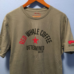Red Whale Coffee DETERMINED Short Sleeve Tee Grey