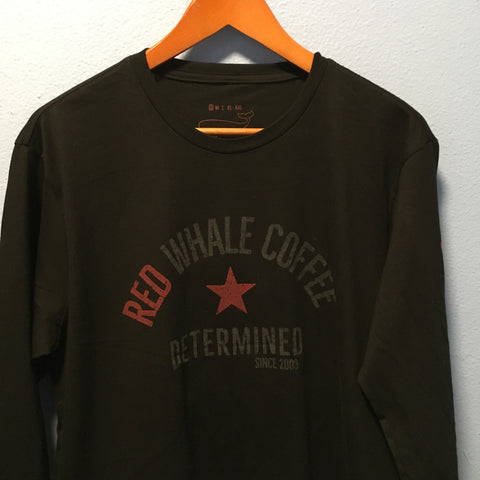 Red Whale Coffee DETERMINED Long Sleeve Tee Black