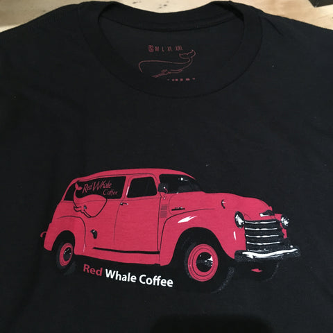 Red Whale Coffee TRUCK Short Sleeve Tee Black