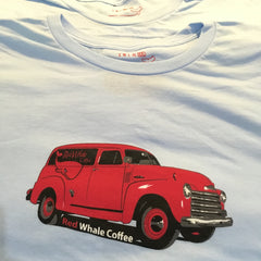 Red Whale Coffee TRUCK Short Sleeve Tee Ice Blue