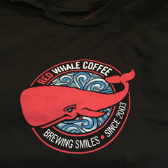 Red Whale Coffee BREWING SMILES Short Sleeve Tee Black