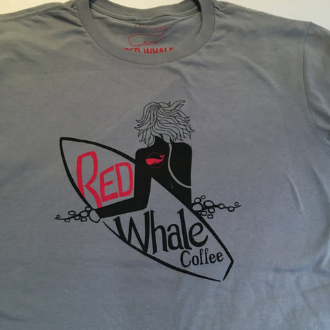 Red Whale Coffee SURFER Short Sleeve Tee Charcoal