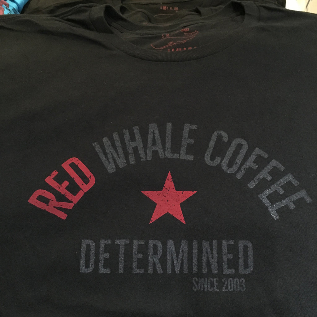 Red Whale Coffee DETERMINED Short Sleeve Tee Black