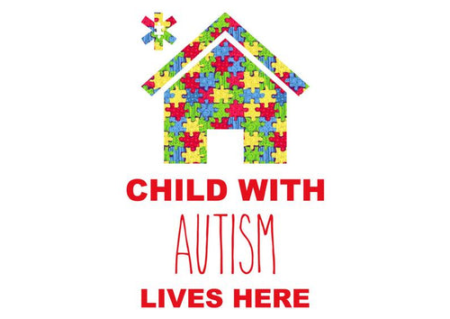 Child With Autism Lives Here Sticker Decal