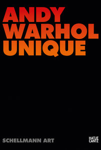 Andy Warhol Unique by Jörg Schellmann - Book at Kavi Gupta Editions