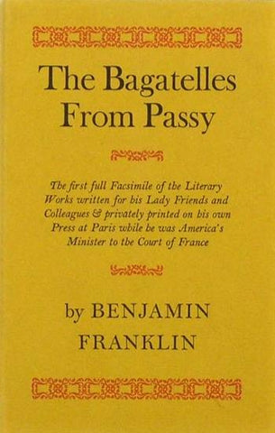 The Bagatelles from Passy by Benjamin Franklin - Book at Kavi Gupta Editions