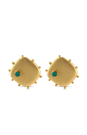 QHU EMERALD EARRINGS
