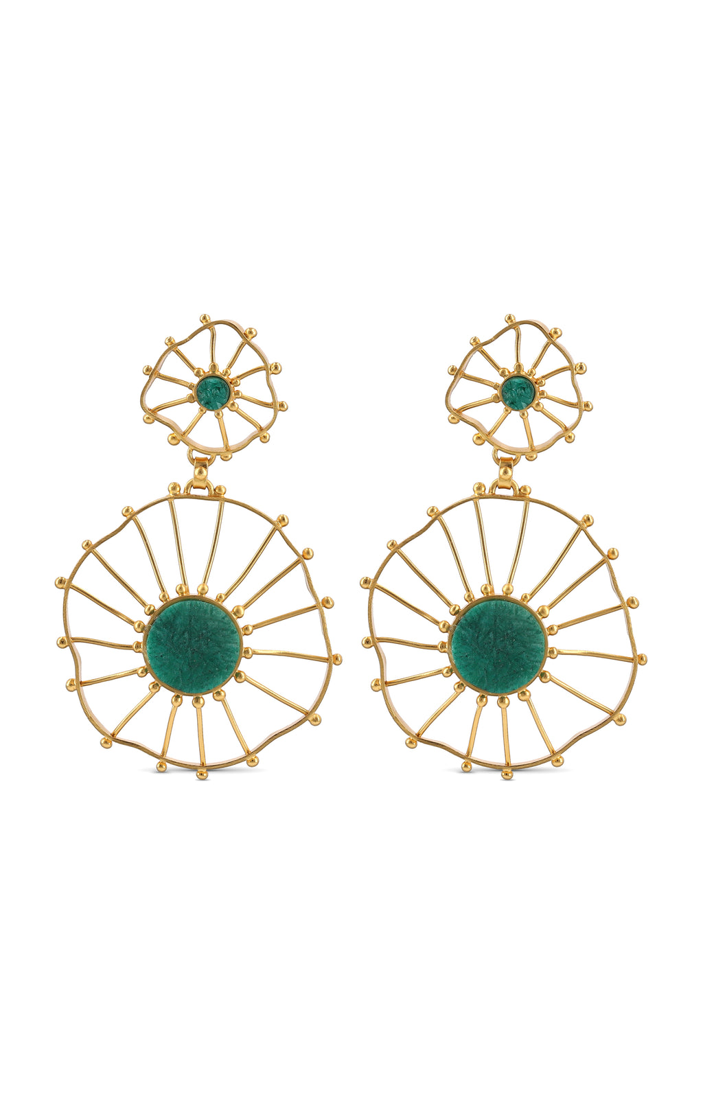 ZAPAC EMERALD EARRINGS