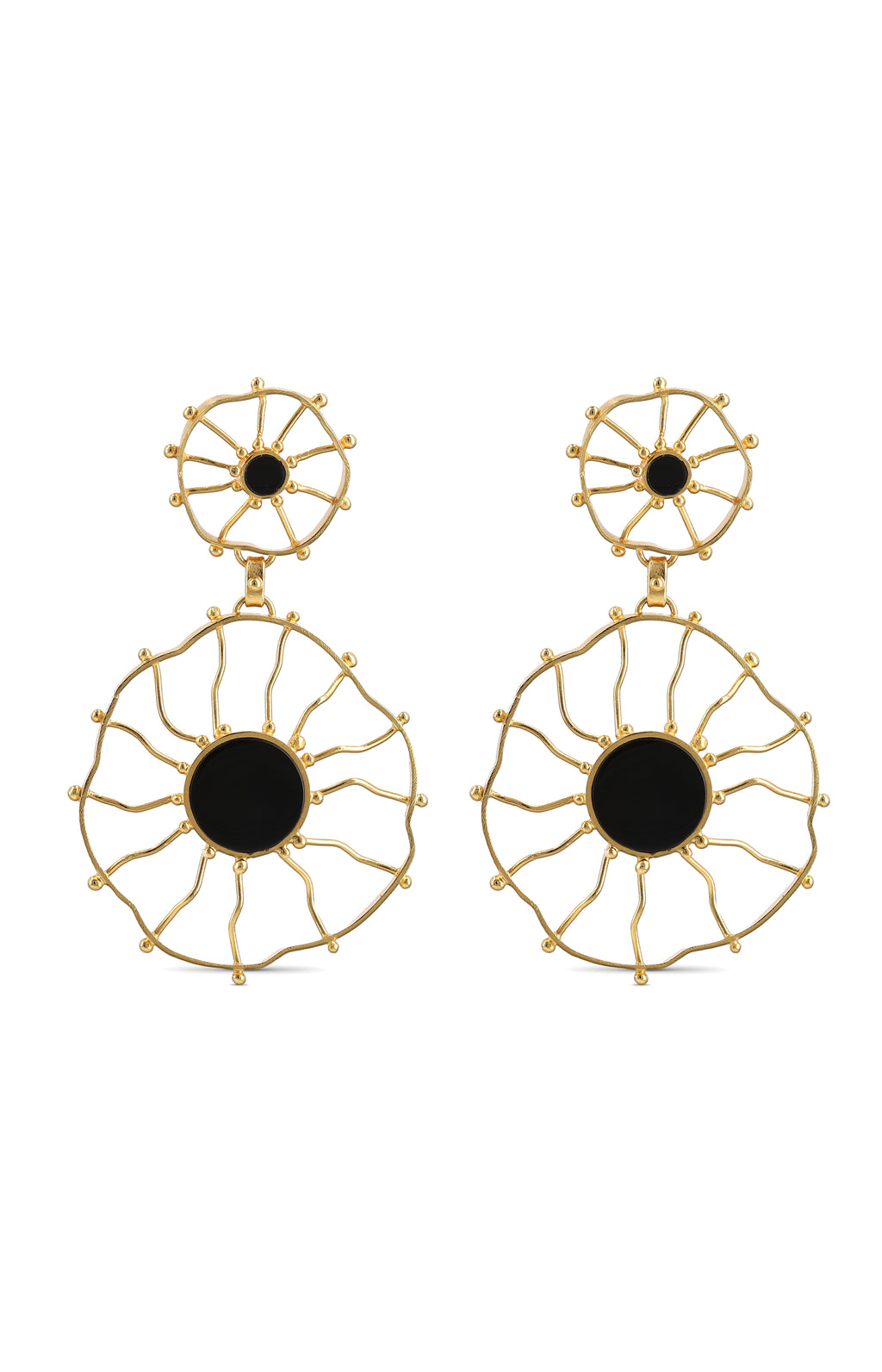 ZAPAC ONYX EARRINGS
