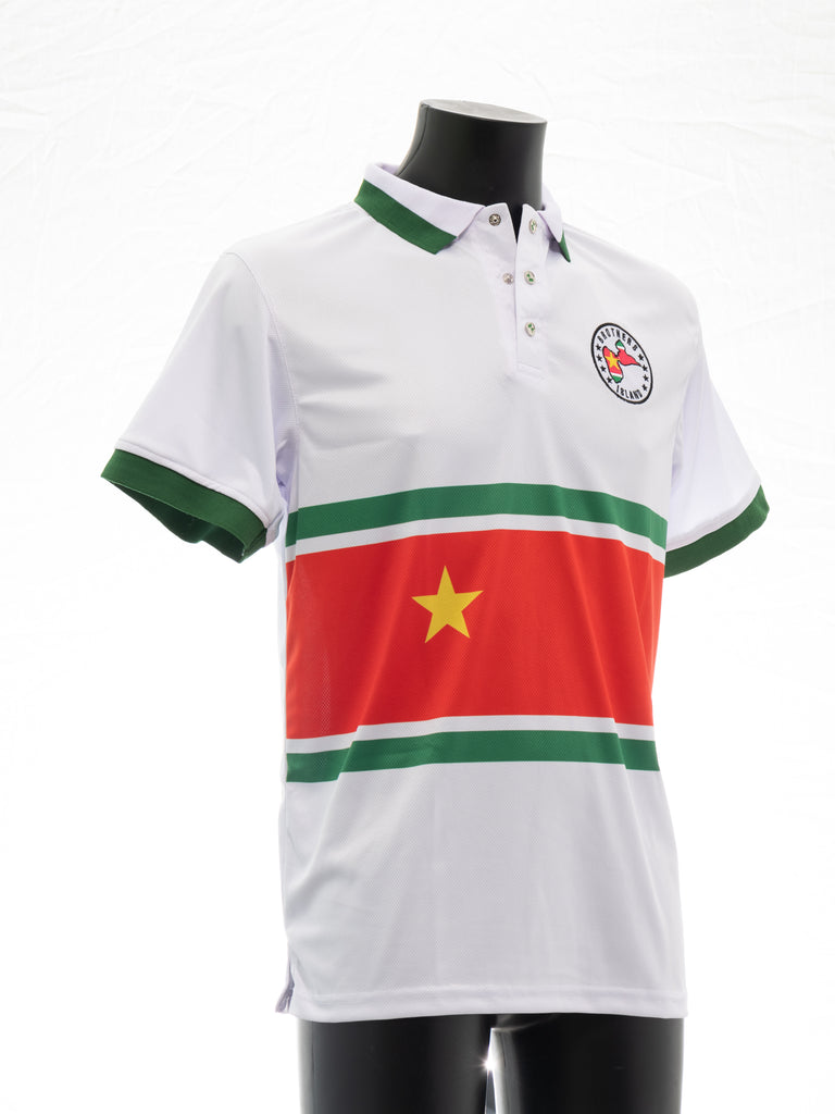Polo Blanc Patriotique Guadeloupe
