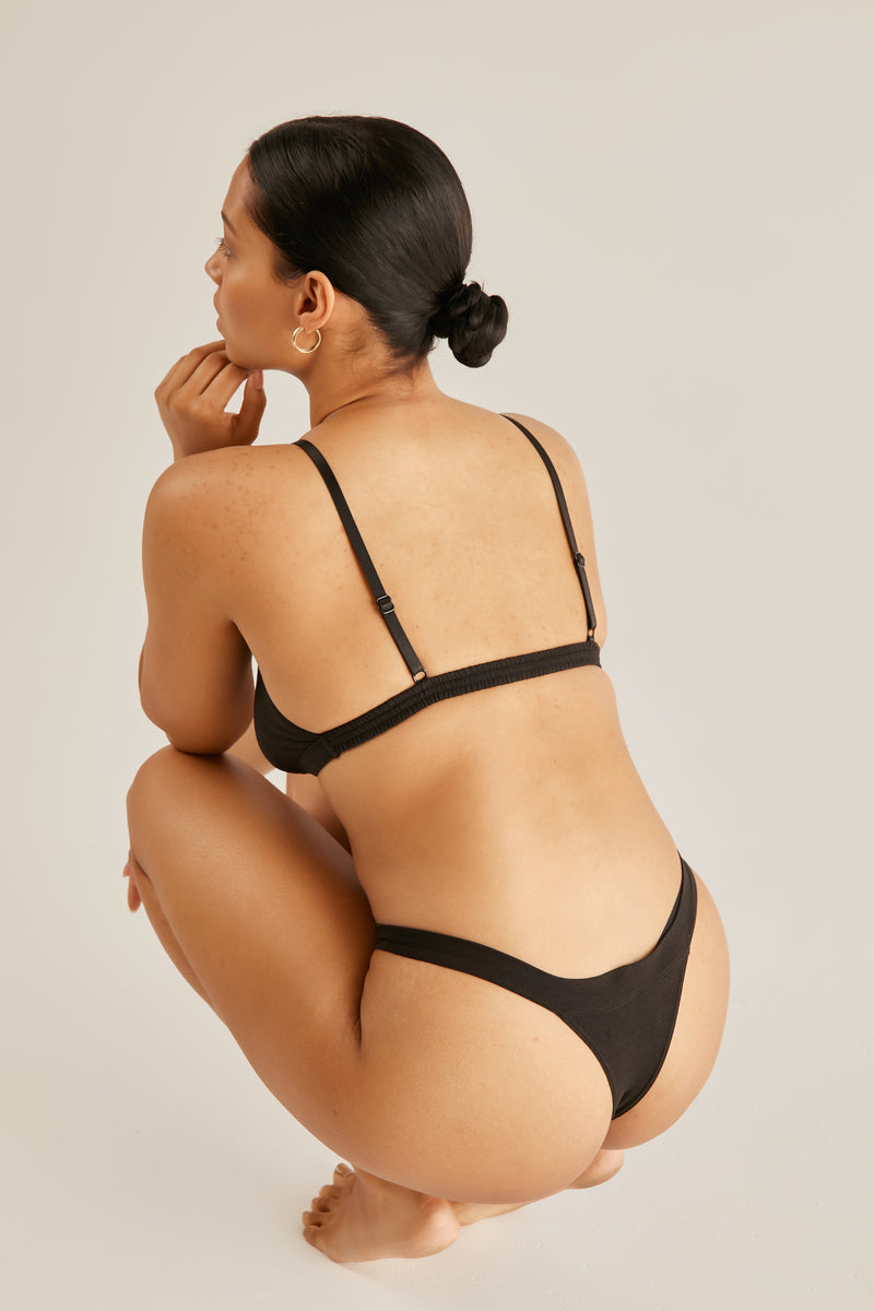 The Blur thong - Black