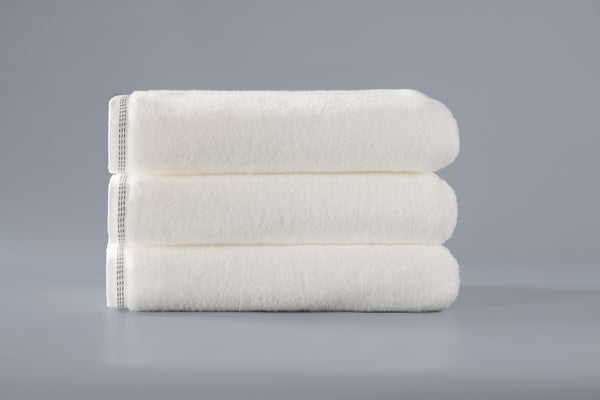 White Blossom Stitch Towel