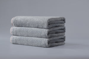 Gray Blossom Stitch Towel