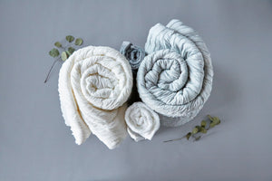 Storm Gray Marshmallow Blanket