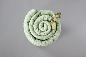 Smoke Green Marshmallow Blanket