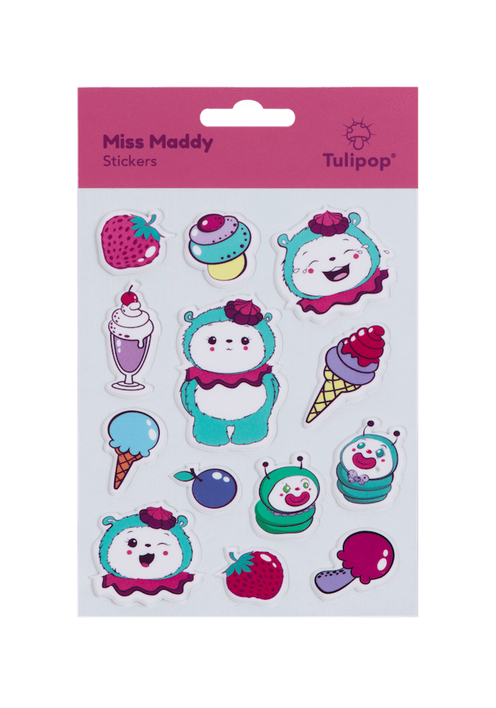 Tulipop Puffy Stickers (4 Pack) Miss Maddy