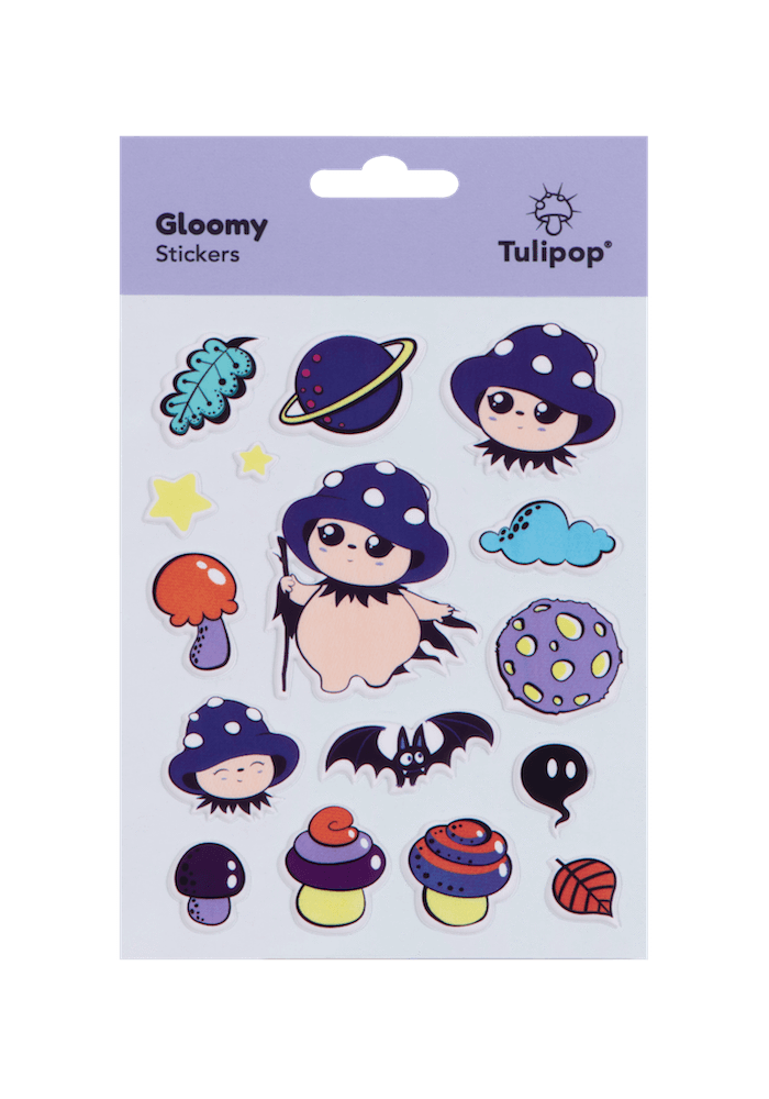 Tulipop Puffy Stickers (4 Pack) Gloomy